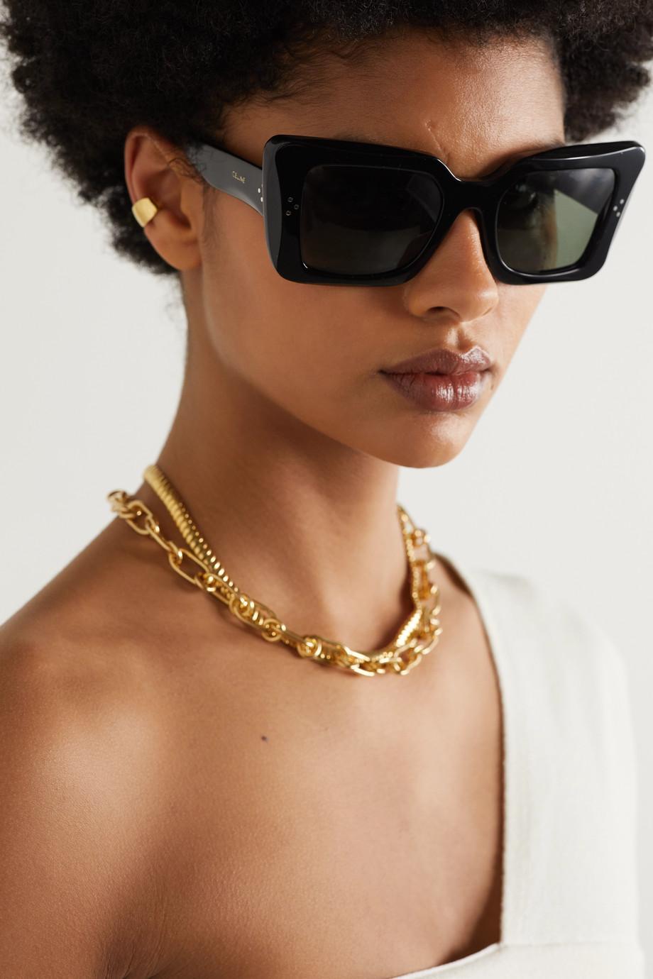 Celine Oversized-Sonnenbrille mit Cat-Eye-Rahmen aus Azetat