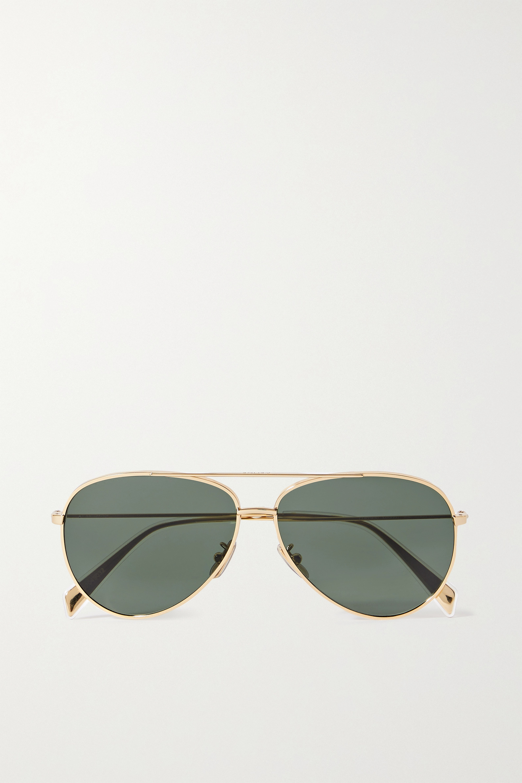 CELINE Eyewear Goldfarbene Pilotensonnenbrille