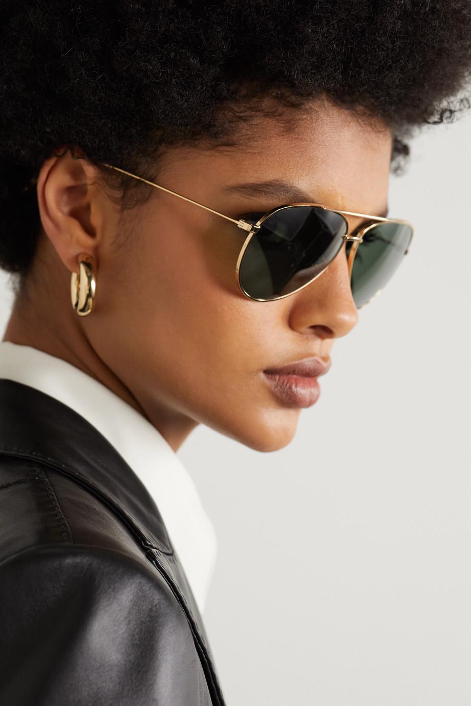 Celine Aviator-style gold-tone sunglasses