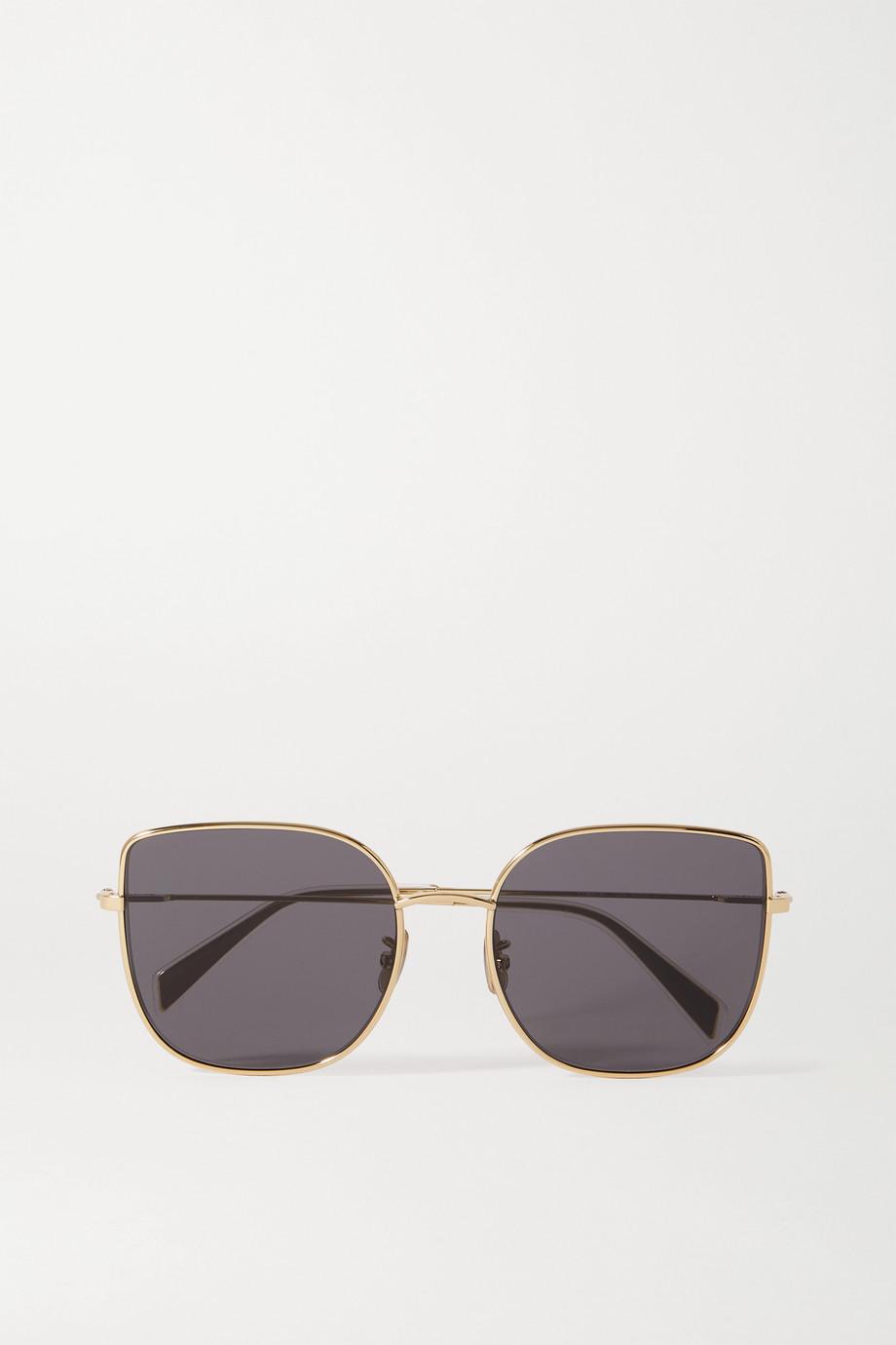 CELINE Eyewear Lunettes de soleil carrées oversize en métal doré