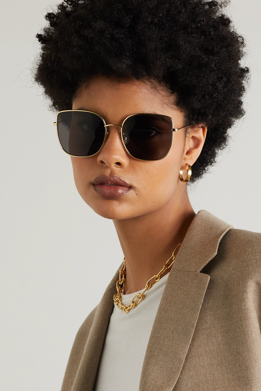 CELINE Eyewear Goldfarbene Oversized-Sonnenbrille mit eckigem Rahmen