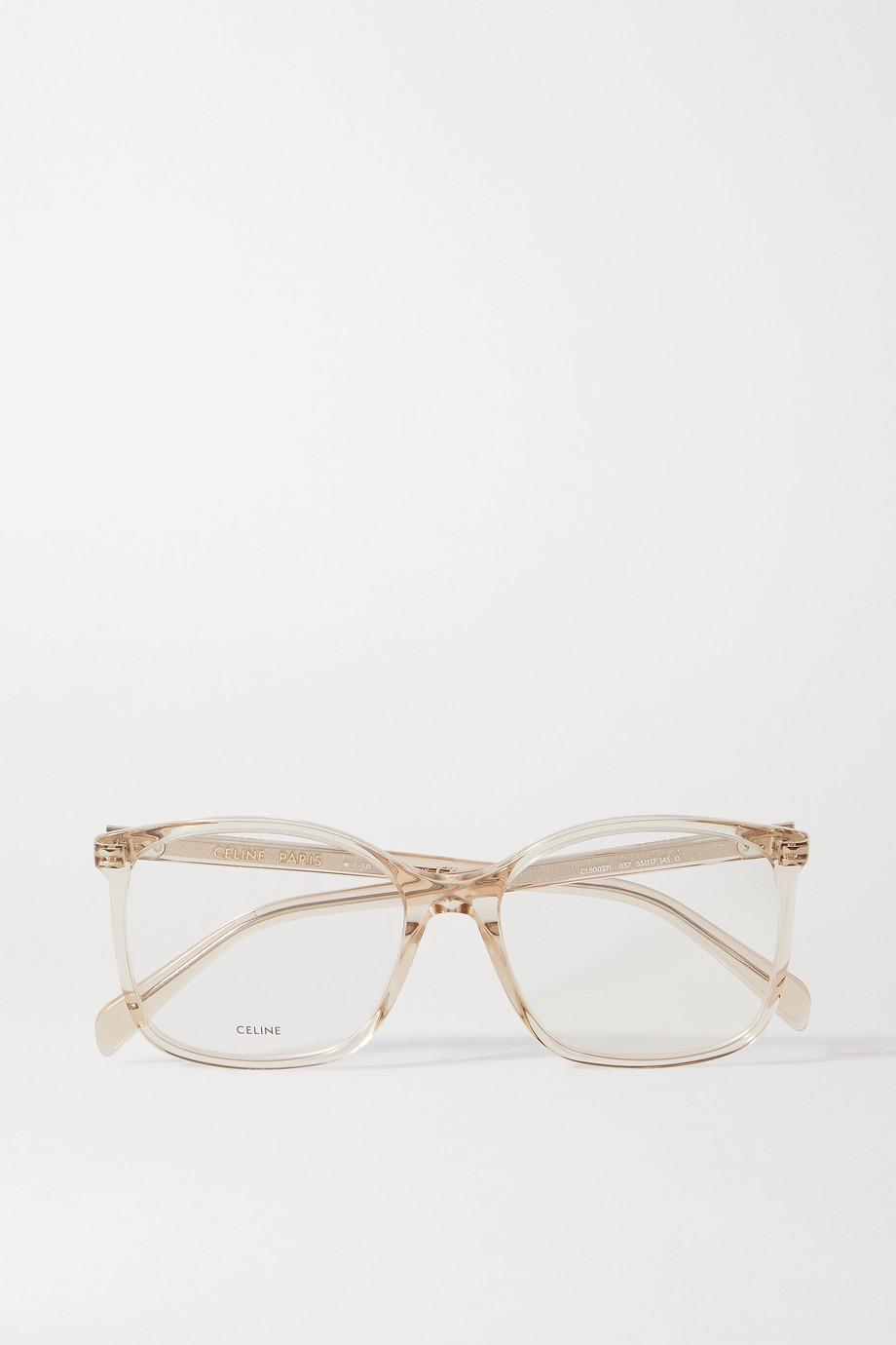 CELINE Eyewear Lunettes de vue carrées en acétate