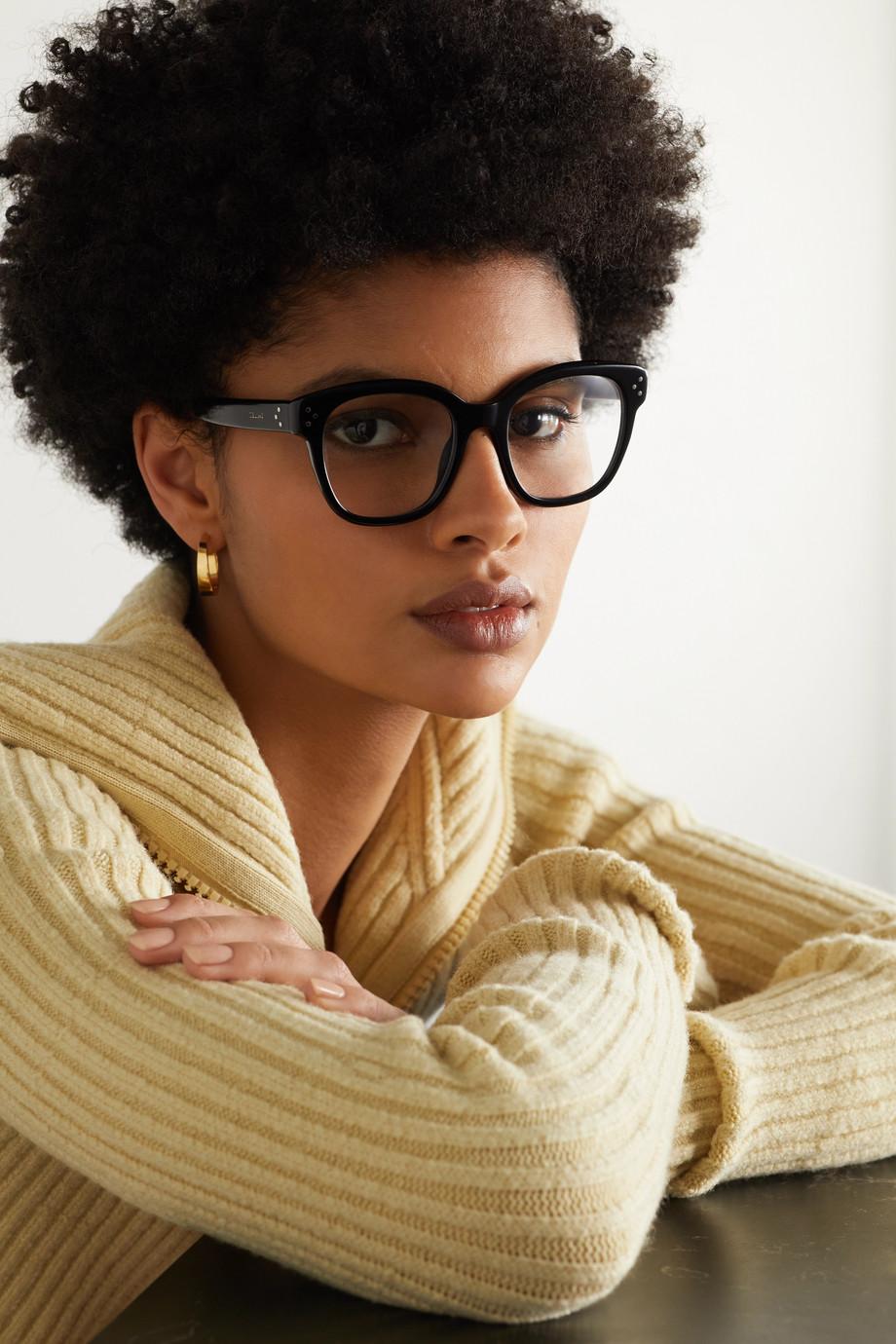 CELINE Eyewear Lunettes de vue carrées oversize en acétate