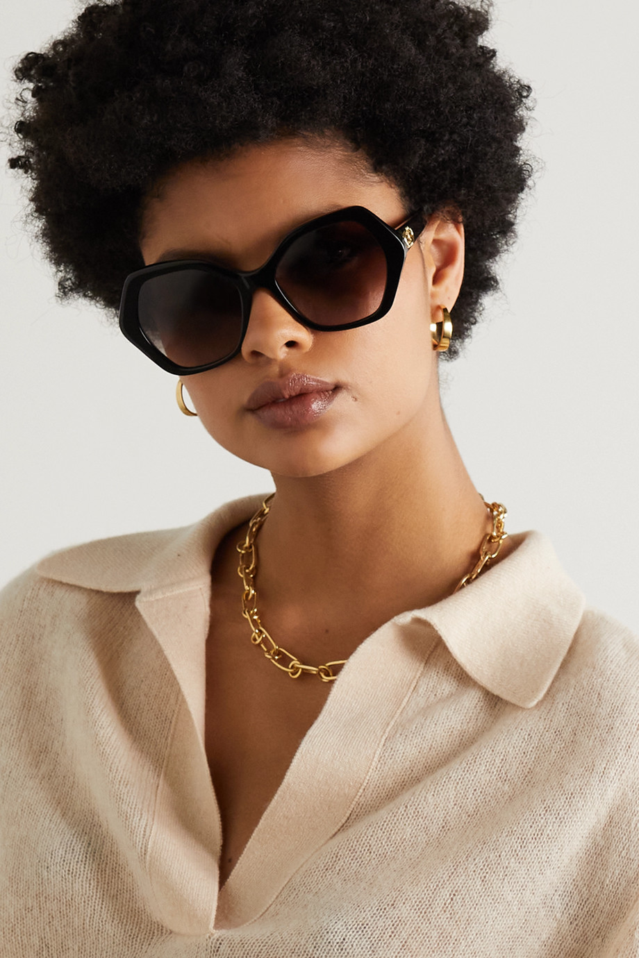 Celine Hexagon-frame acetate sunglasses
