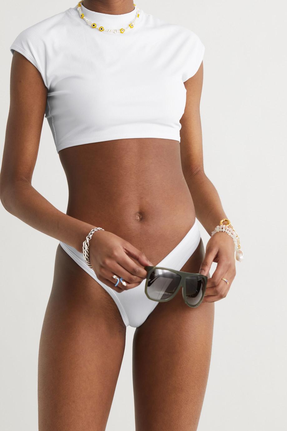 The Attico Ribbed bikini top