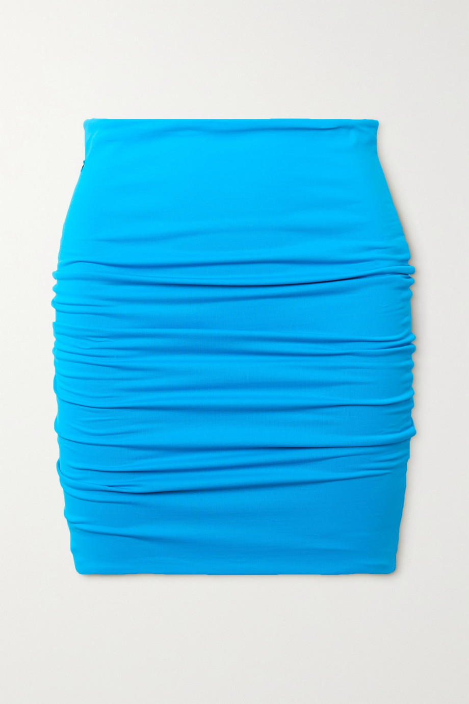 The Attico Ruched stretch-jersey mini skirt