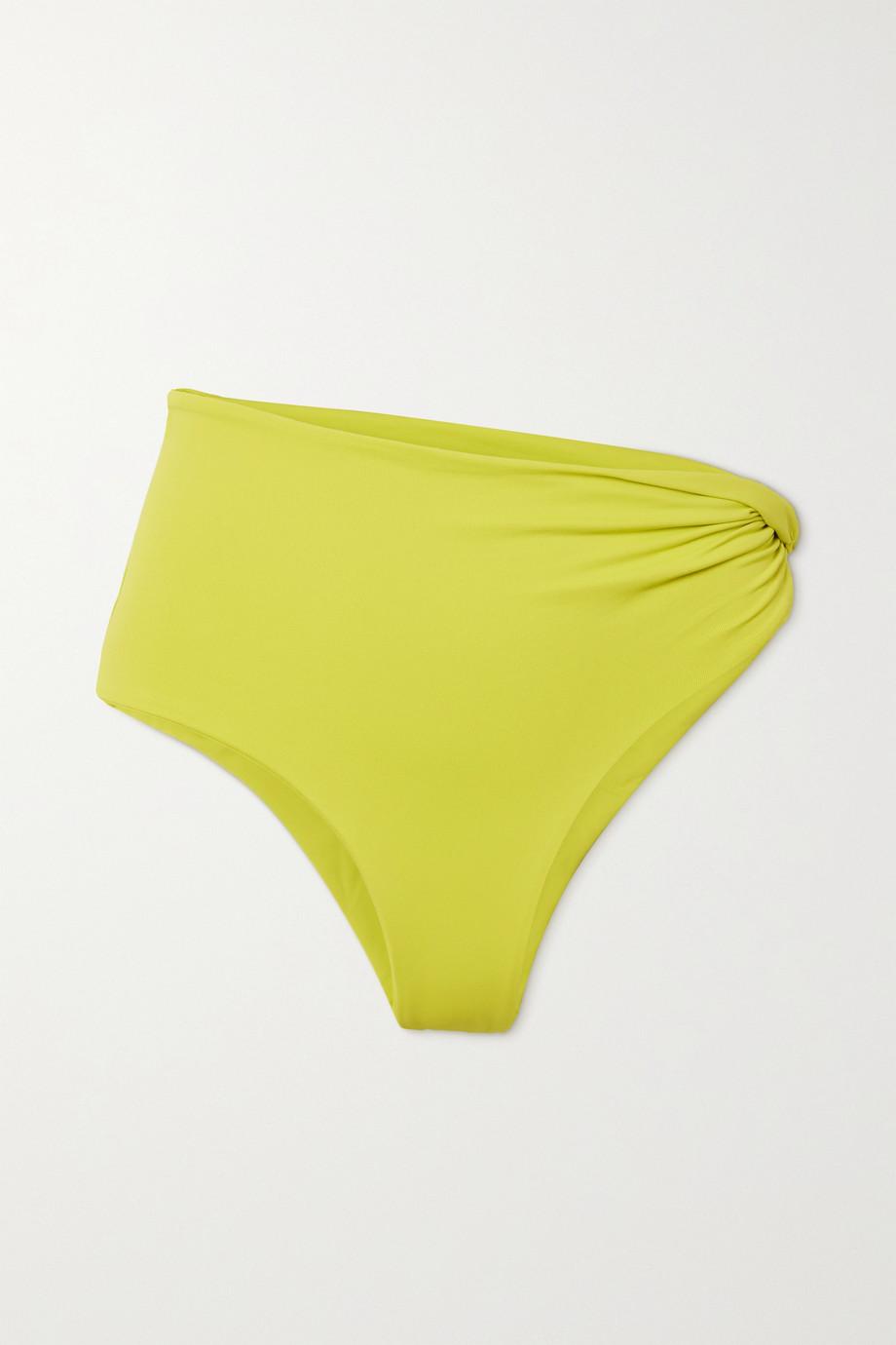 The Attico Twisted ribbed bikini briefs