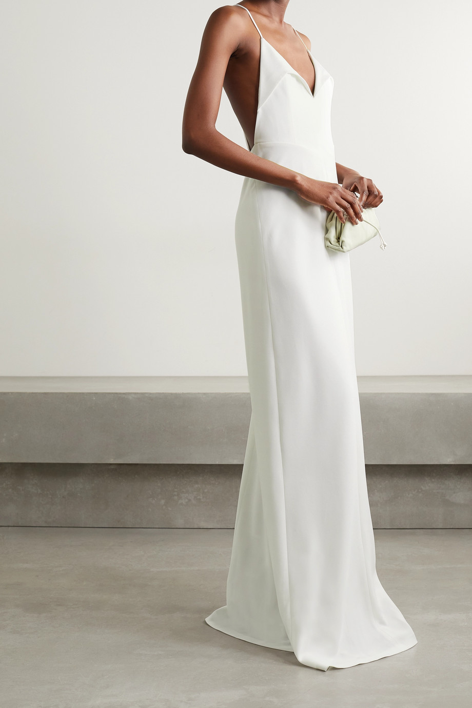 Galvan Punta crepe gown