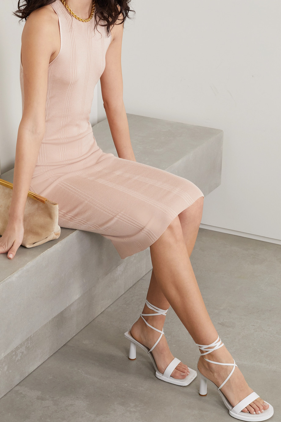 L'Agence Shelby ribbed-knit dress