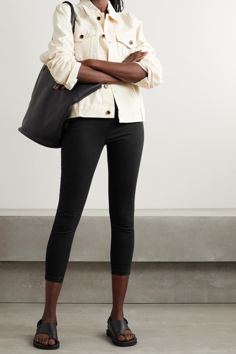 L'Agence Pantalon skinny raccourci en coton et modal mélangés stretch Rosalie