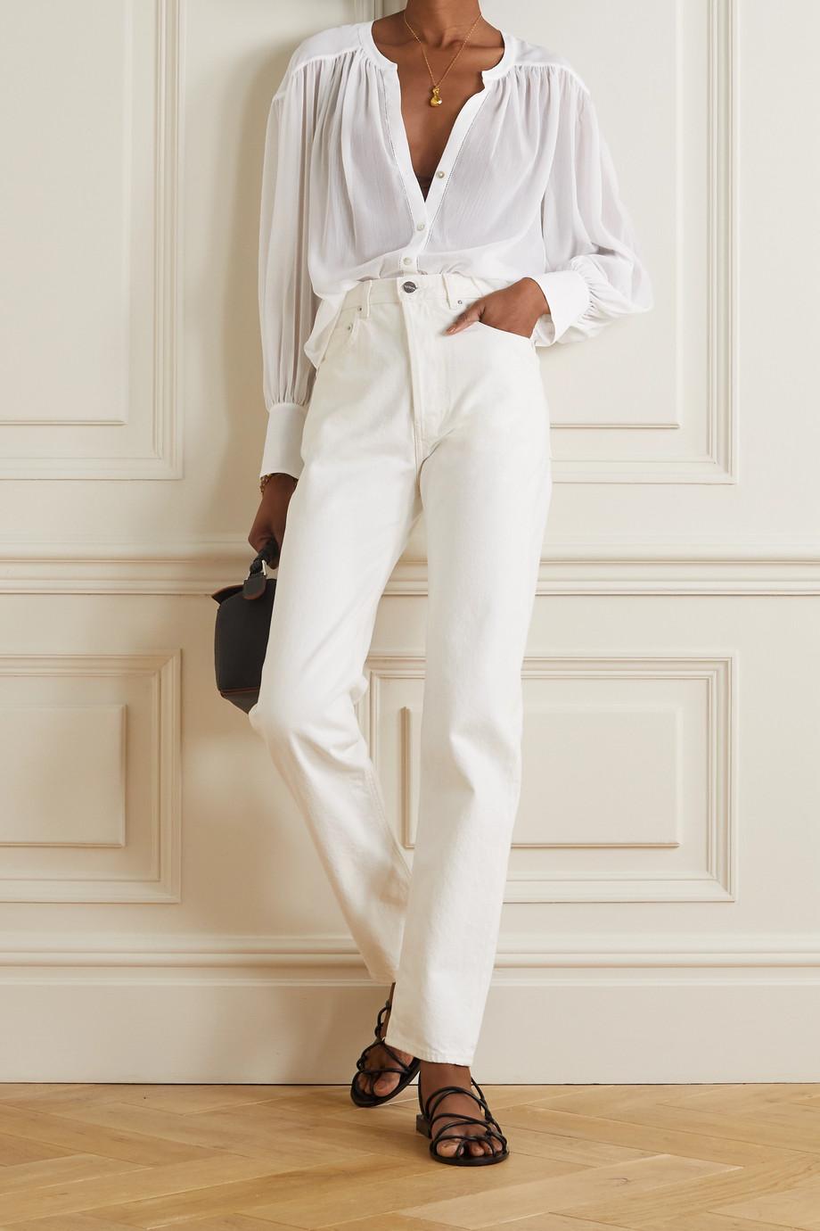 L'Agence Farah crepon blouse