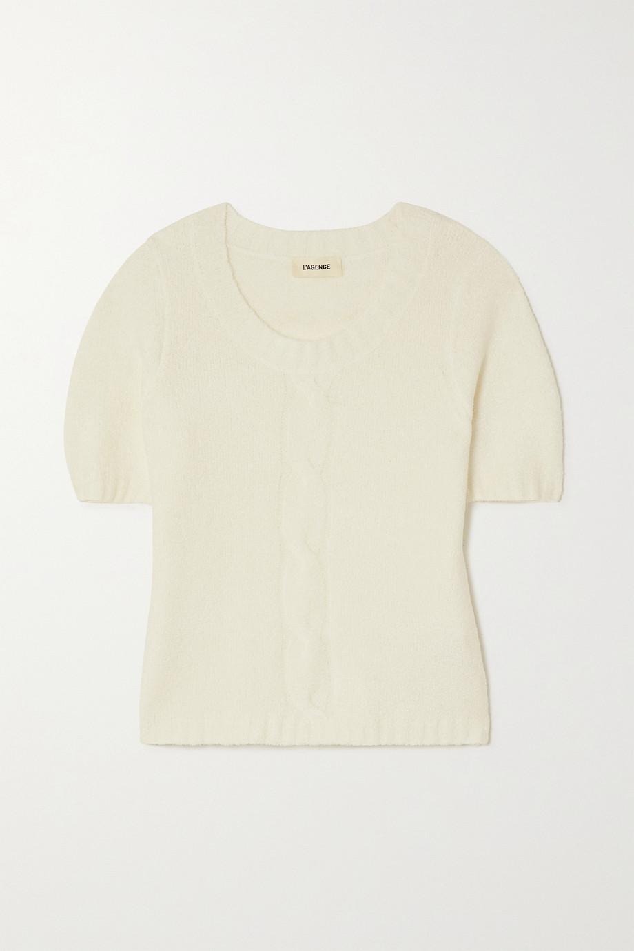 L'Agence Liz bouclé-knit sweater