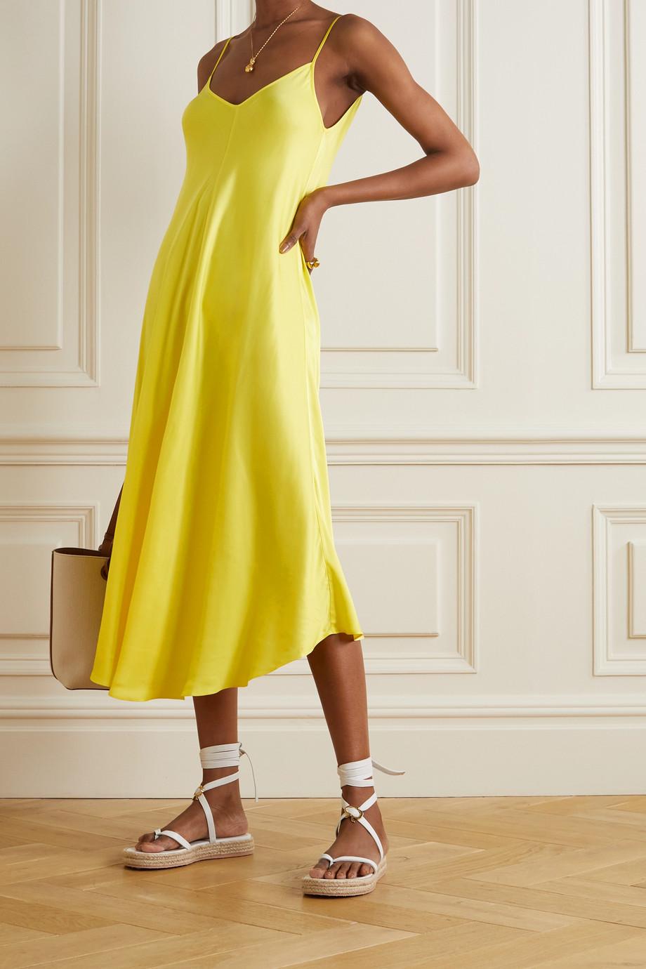 L'Agence Lorraine asymmetric crepe midi dress