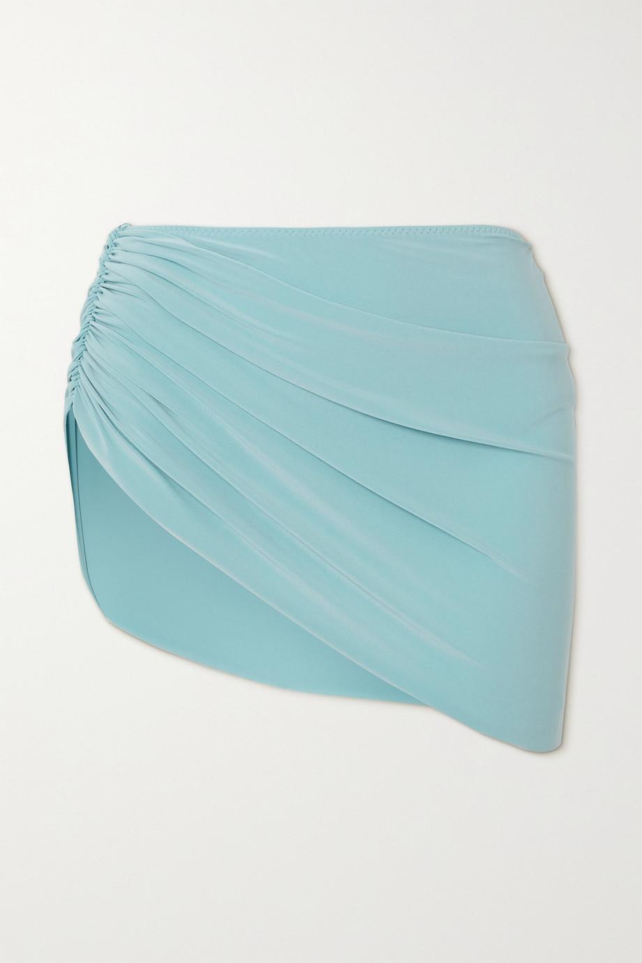 Norma Kamali Diana draped asymmetric bikini briefs
