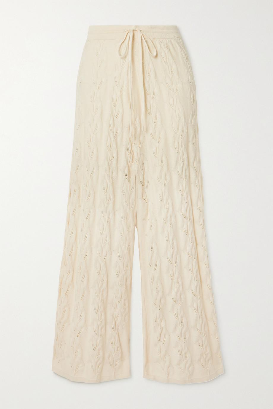Holzweiler Pantalon en coton à mailles pointelle Thiril