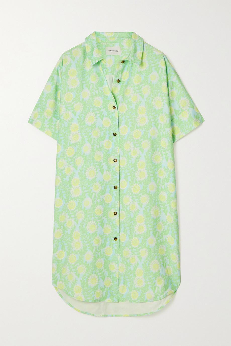 Holzweiler Robe-chemise en serge à imprimé fleuri Lafayette