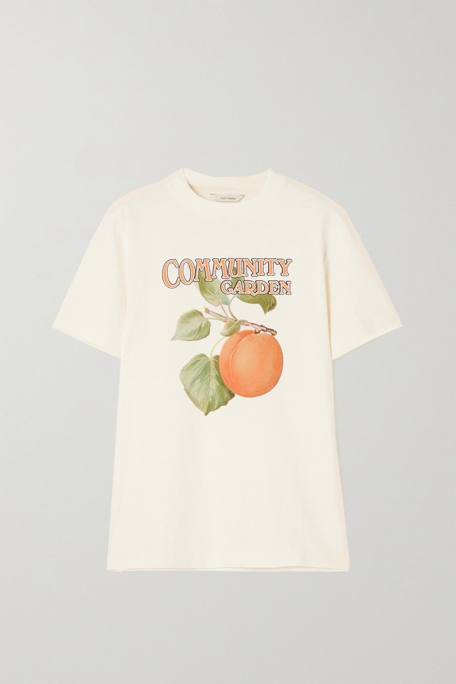 Holzweiler T-shirt en jersey de coton biologique imprimé Kjerag - NET SUSTAIN