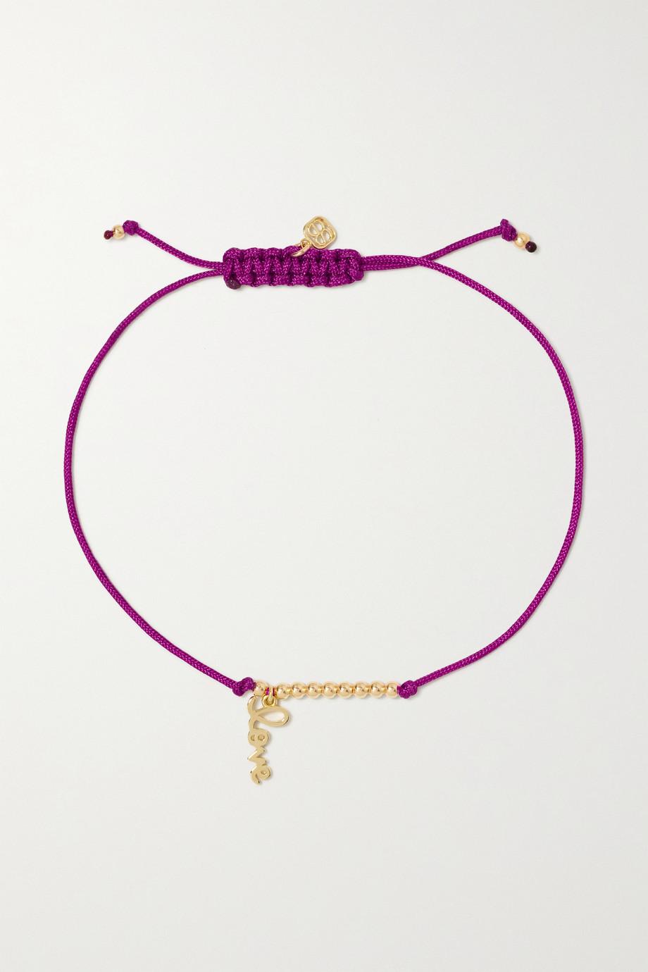 Sydney Evan Pure Love 14-karat gold cord bracelet