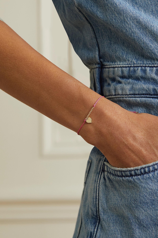 Sydney Evan Pure Heart 14-karat gold cord bracelet