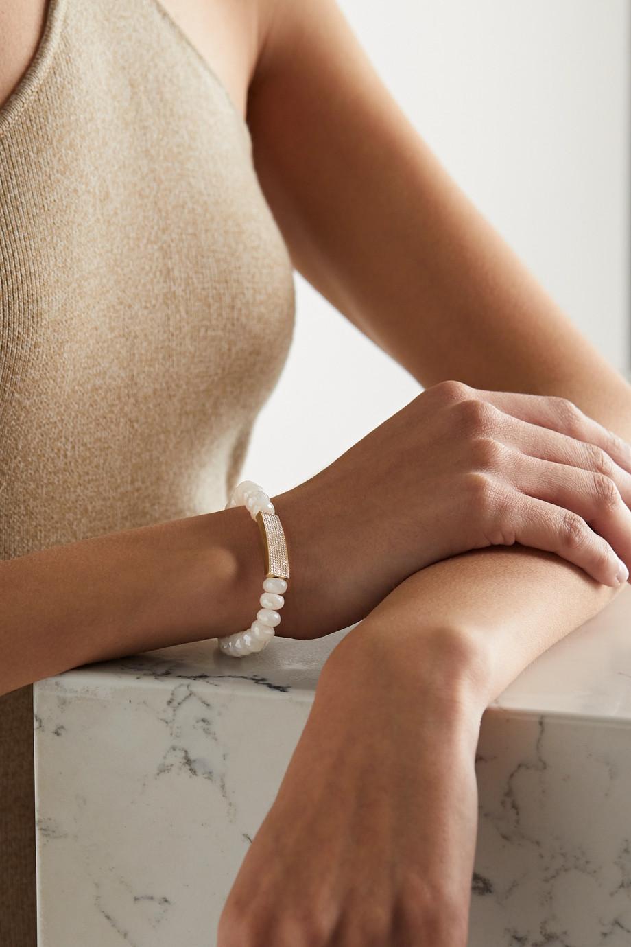 Sydney Evan Mystic 14-karat gold, quartz and diamond bracelet