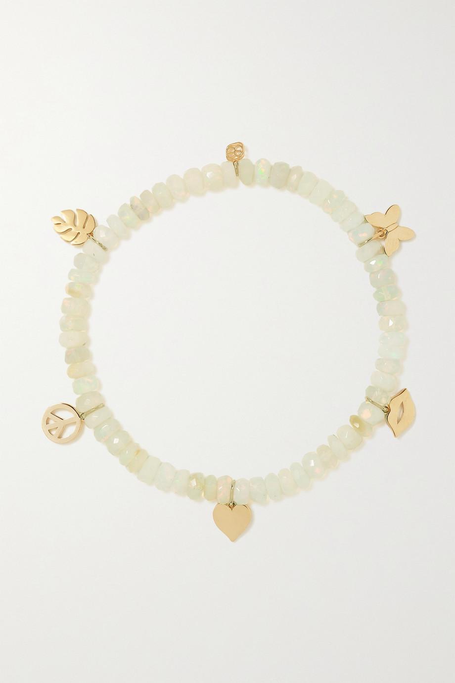 Sydney Evan Pure Charm 14-karat gold opal bracelet