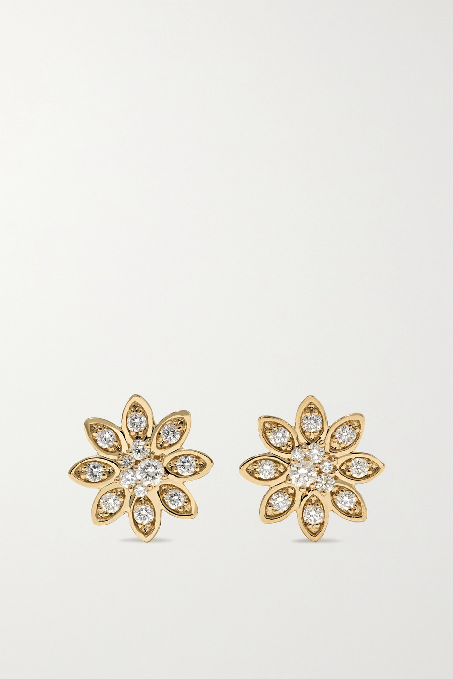 Sydney Evan Boucles d'oreilles en or 14 carats et diamants