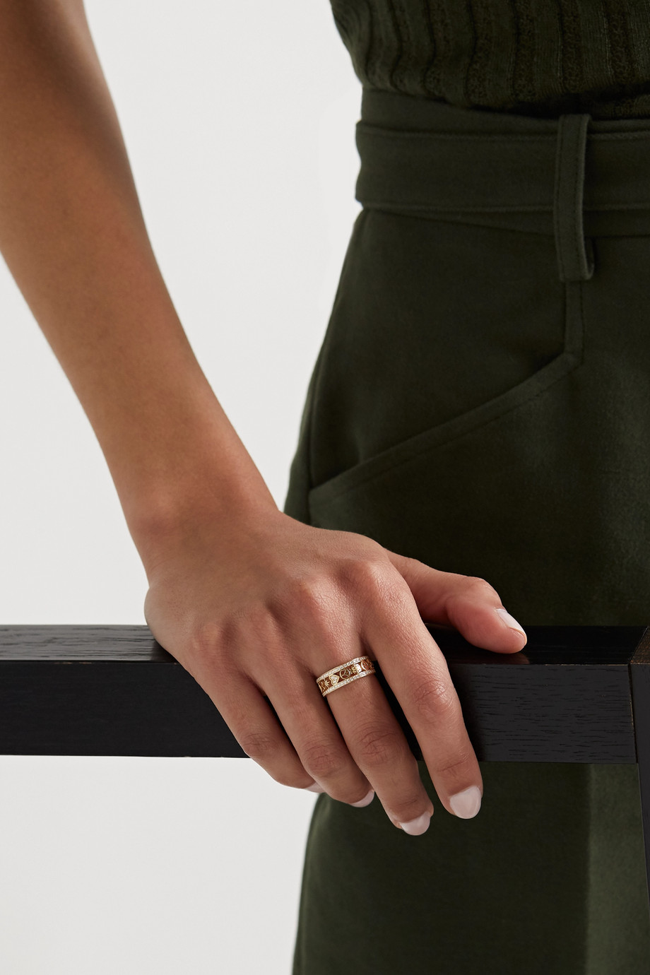 Sydney Evan Icon 14-karat gold diamond ring