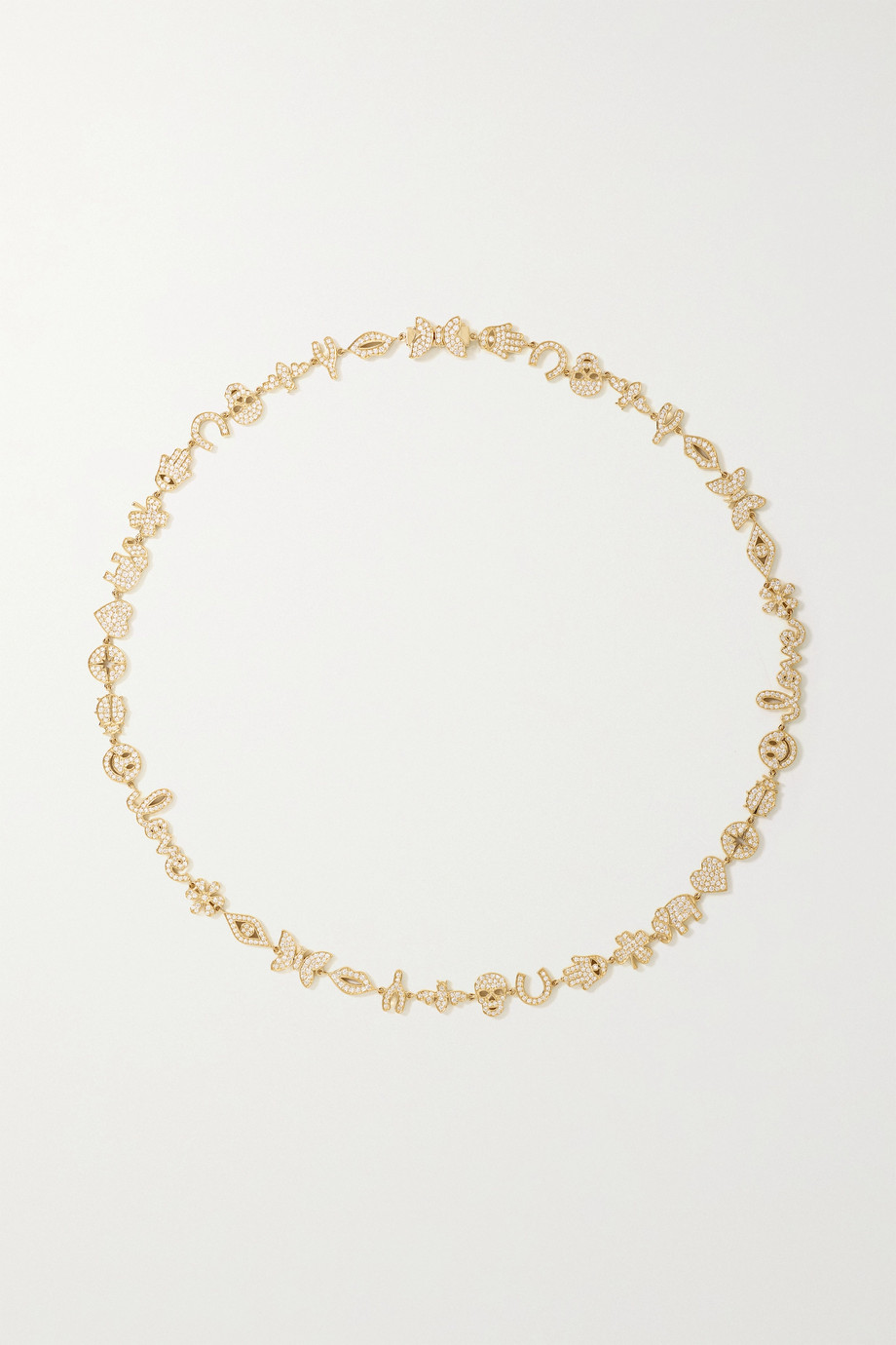 Sydney Evan Collier en or 14 carats et diamants Anniversary Small
