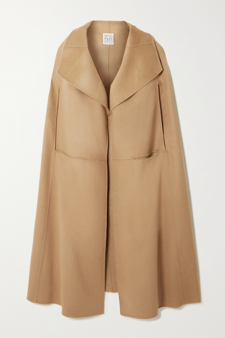 Totême Signature wool and cashmere-blend cape