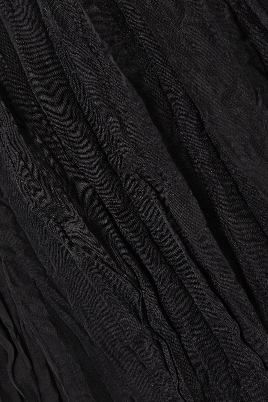 Totême Robe longue en soie Habotai froissée