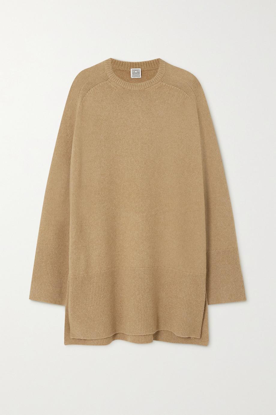 Totême Pull oversize en laine mélangée à mailles torsadées