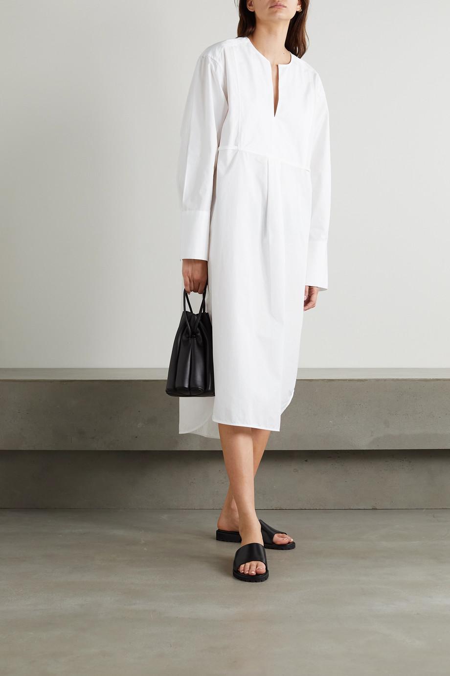 Totême Robe-chemise oversize en popeline de coton