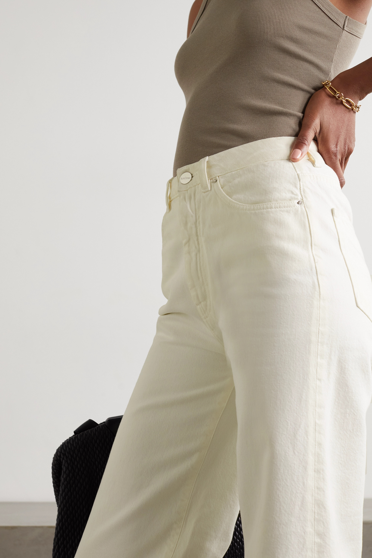 Totême Jean droit taille haute en coton biologique Barrel