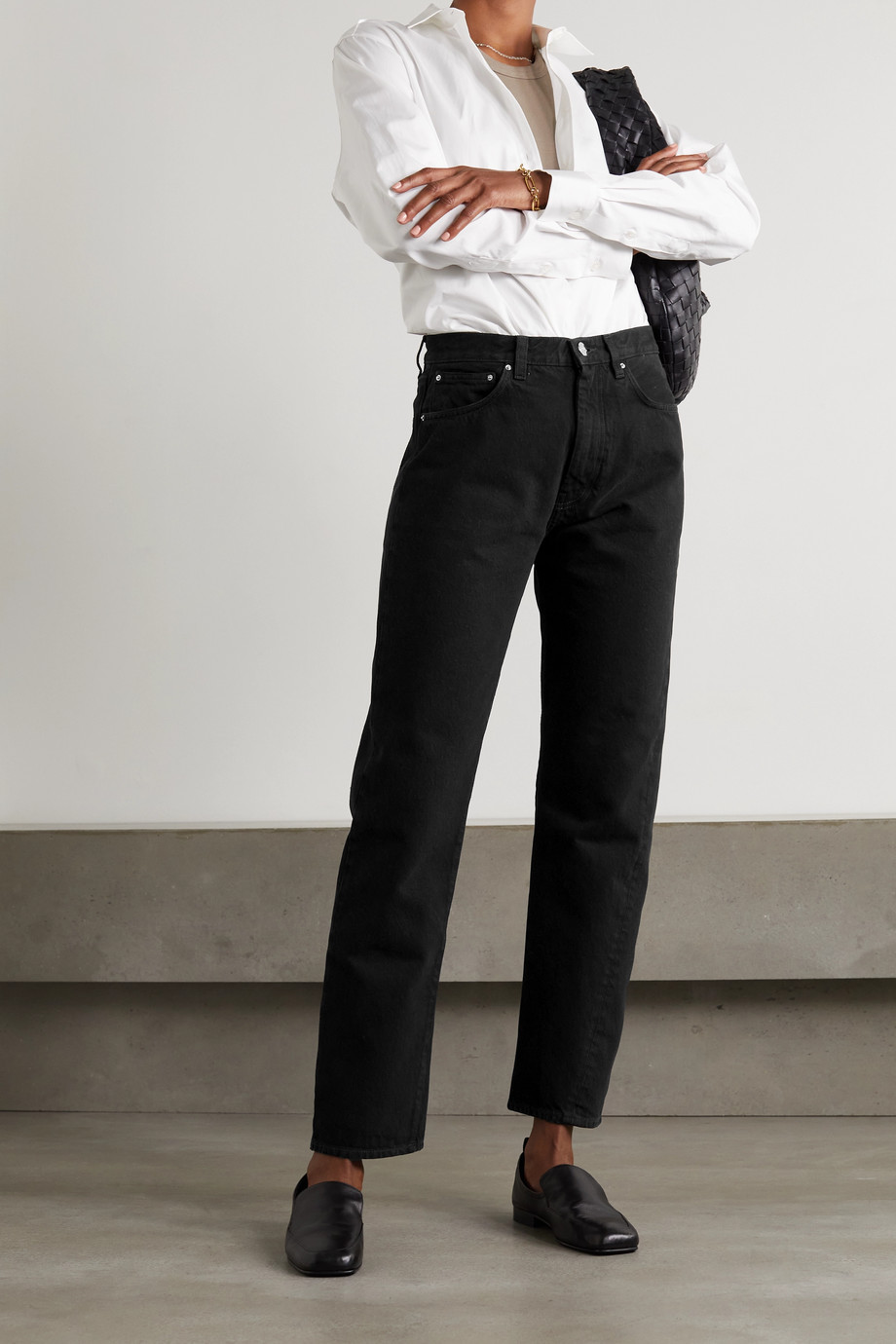 Totême Jean droit taille haute en coton biologique