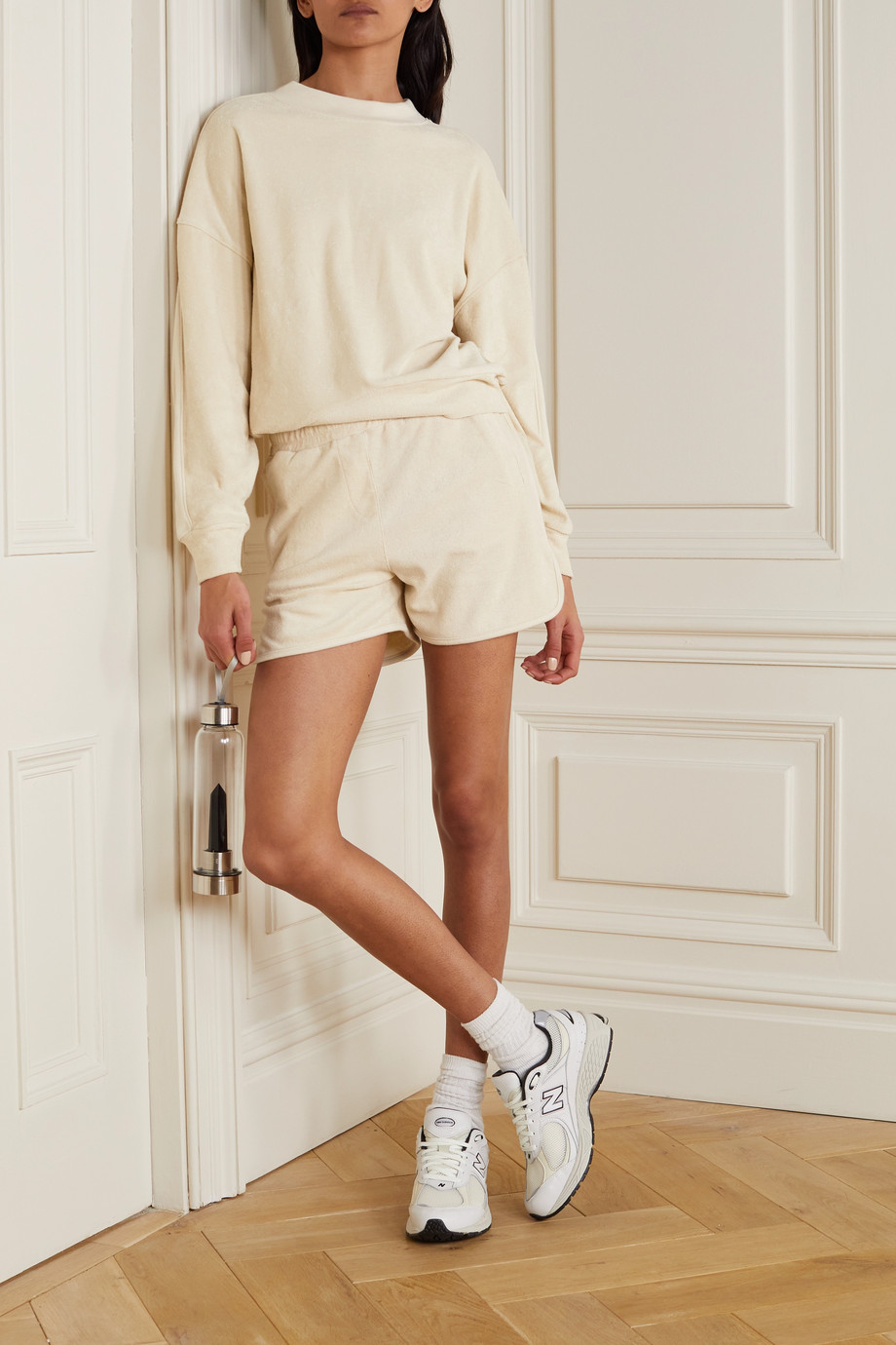 Varley Lyle cotton-terry sweatshirt