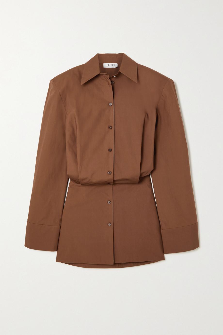The Attico Cotton-poplin mini shirt dress