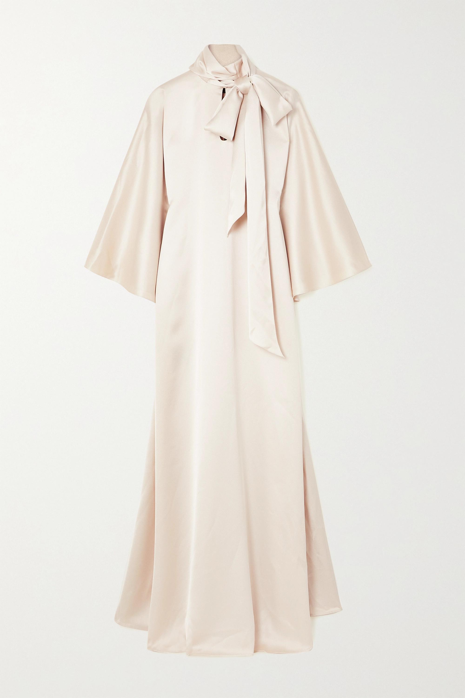 RASARIO Robe aus Seidensatin mit Schluppe