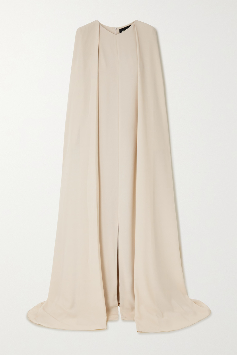 RASARIO Cape-effect crepe gown