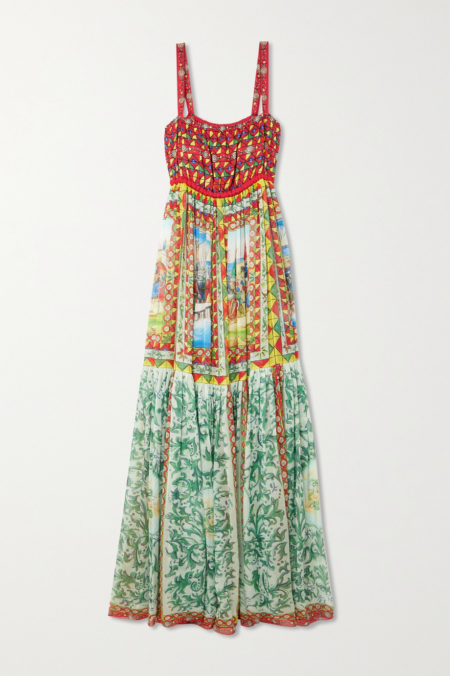 Dolce & Gabbana Robe du soir en mousseline de soie imprimée