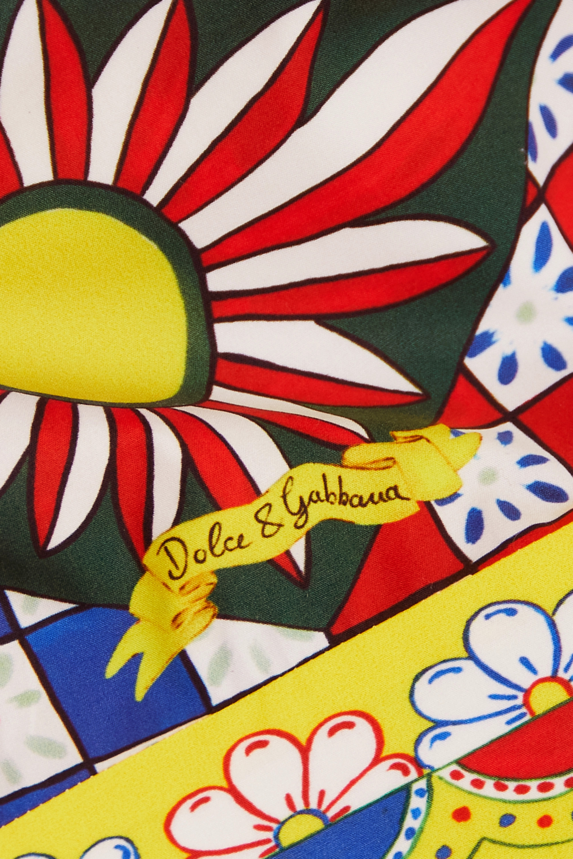 Dolce & Gabbana Haut raccourci en popeline de coton imprimée