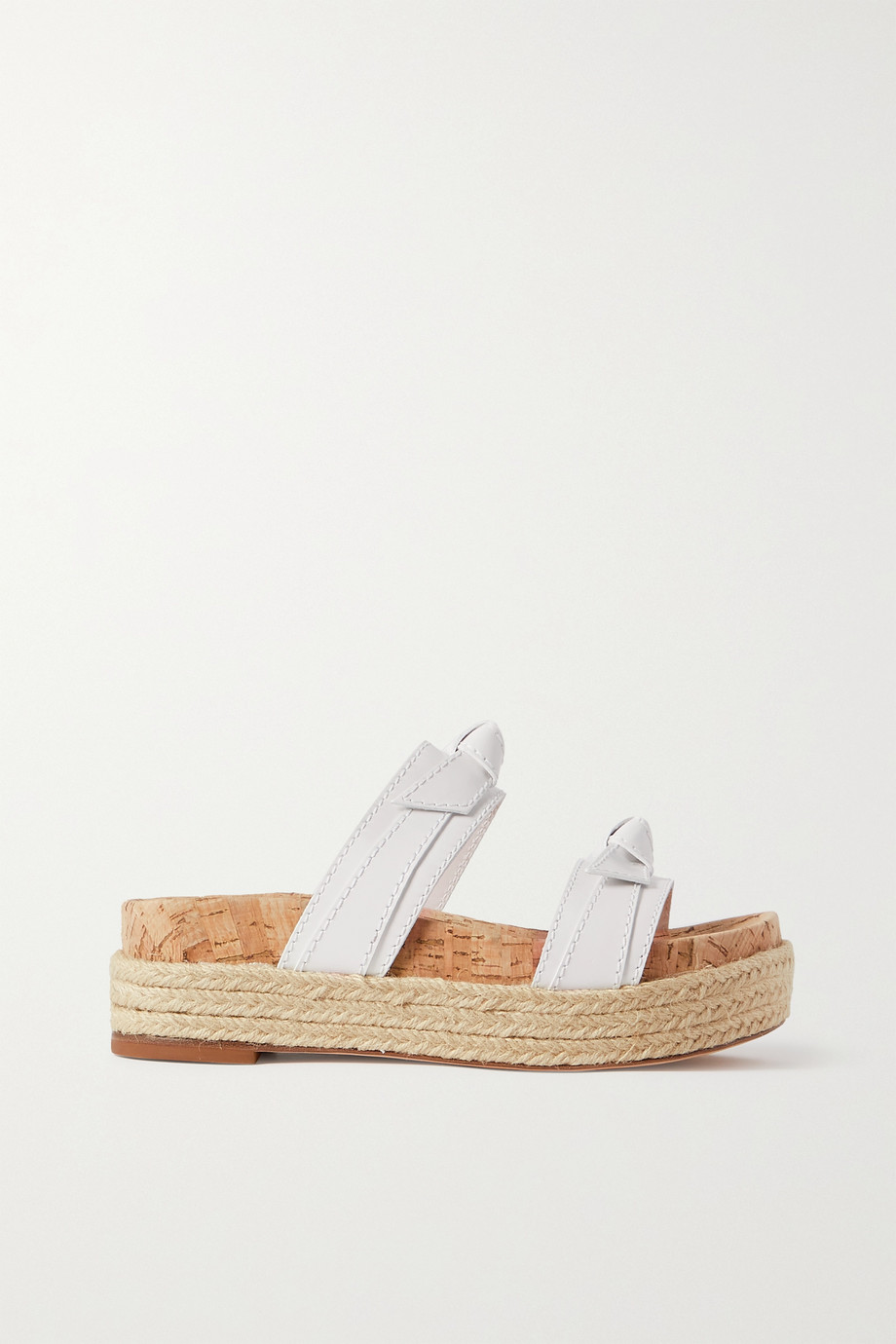 Alexandre Birman Clarita Sport leather espadrille platform sandals