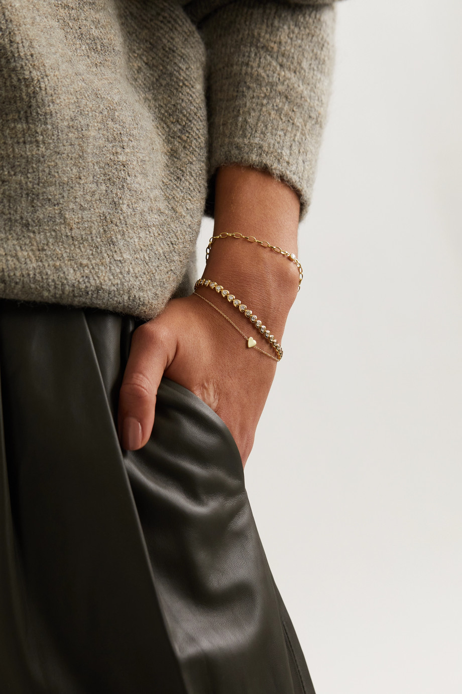 Jennifer Meyer Mini Heart 18-karat gold bracelet