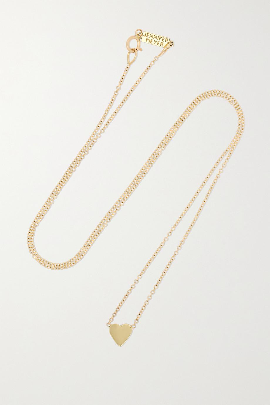 Jennifer Meyer Mini Heart 18-karat gold necklace