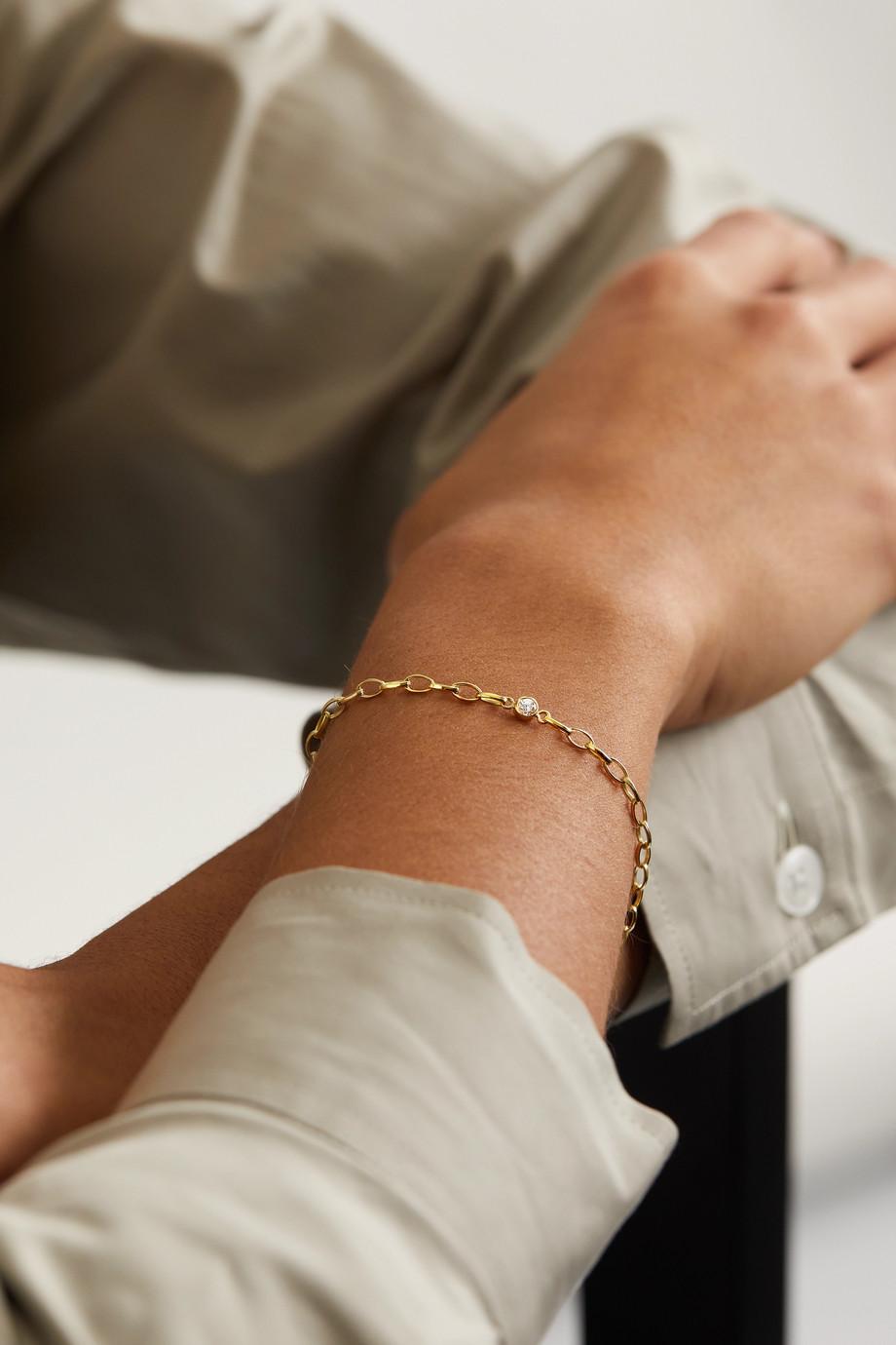 Jennifer Meyer Small Edith 18-karat gold diamond bracelet