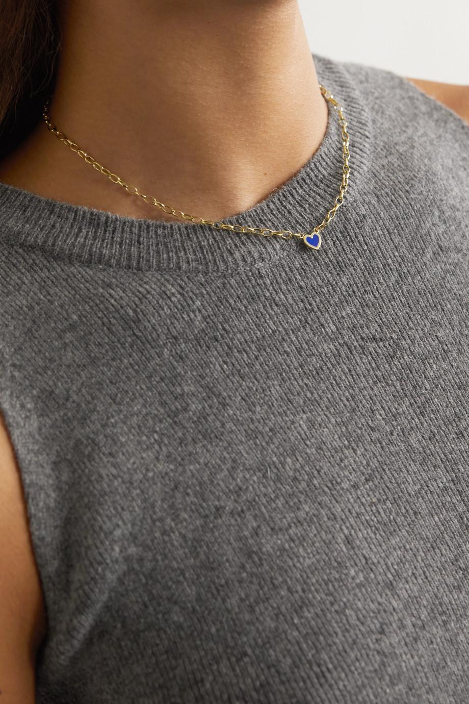 Jennifer Meyer Small Edith 18-karat gold lapis necklace