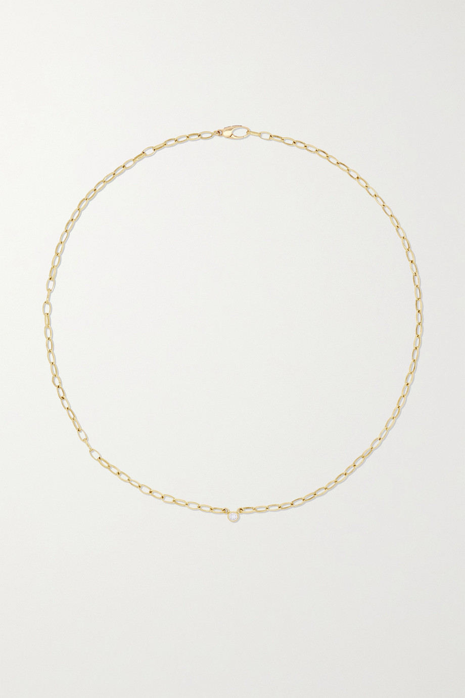 Jennifer Meyer Small Edith 18-karat gold diamond necklace