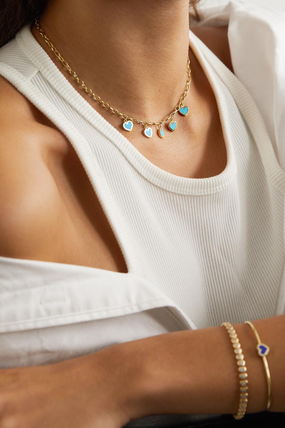 Jennifer Meyer Small Edith 18-karat gold turquoise necklace