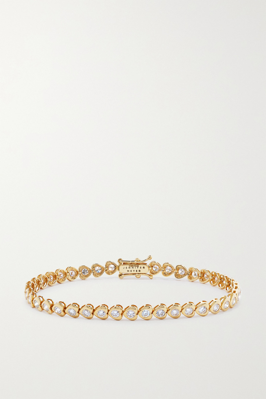 Jennifer Meyer Bracelet en or 18 carats et diamants Heart