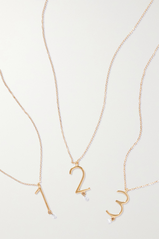 Persée Collier en or 18 carats (750/1000) et diamant Chiffre
