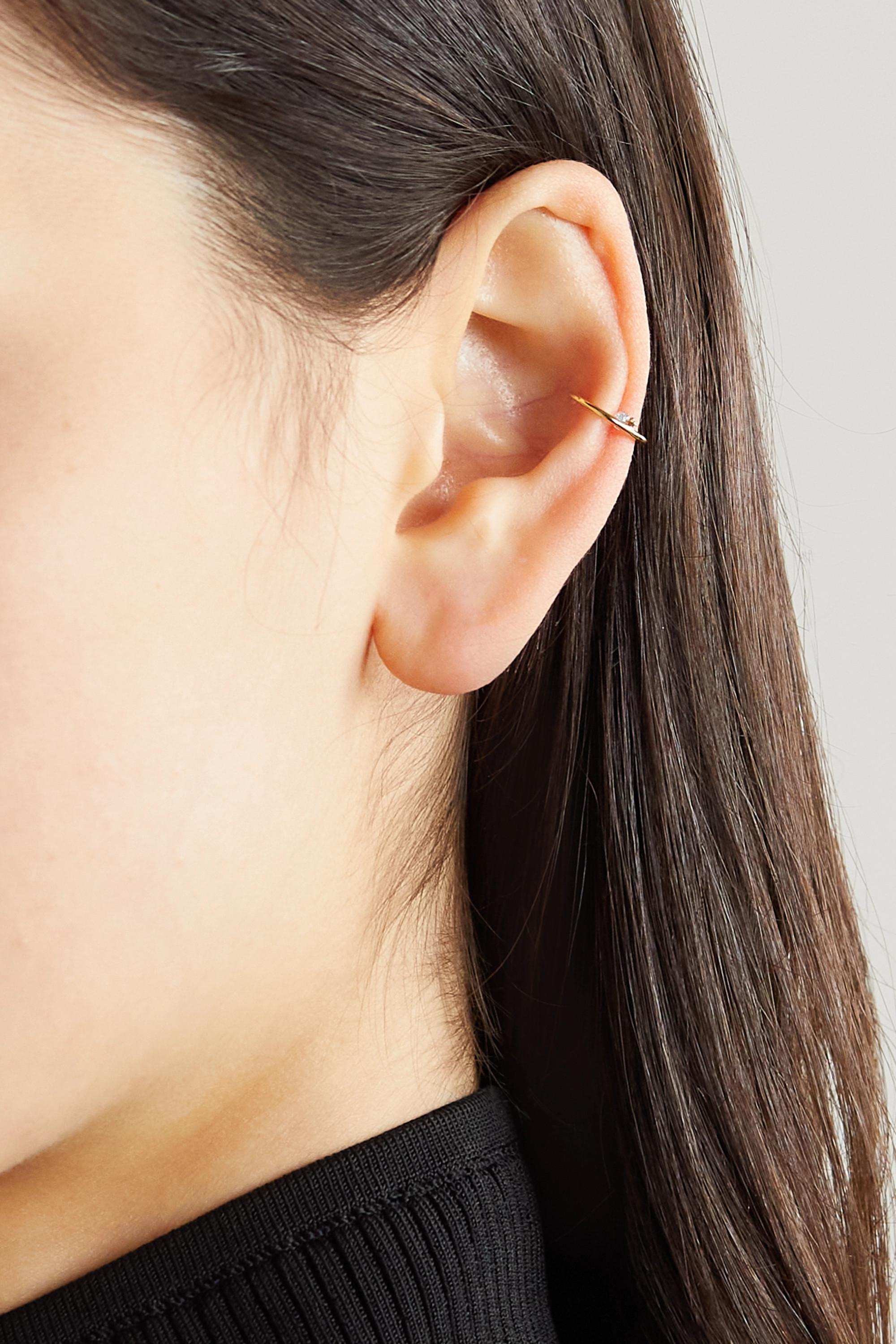 Persée Ear Cuff aus Gold mit Diamant